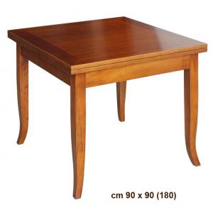 Tavolo quadrato apertura a libro 90-180 cm