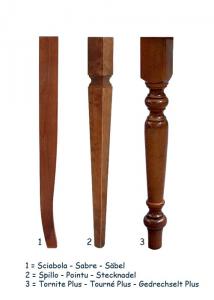 Tavolo rettangolare in stile 160cm