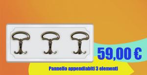 Pannello appendiabiti 3 elementi - OFFERTA