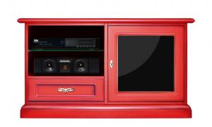 Porta TV rosso con reflex nero - OFFERTA