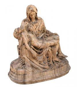 Scultura legno ulivo 'Pietà' - OFFERTA