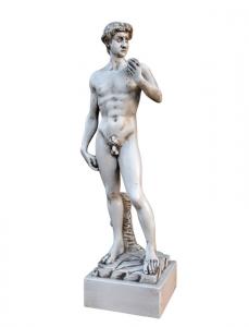 Scultura legno Ispirazione David di Michelangelo