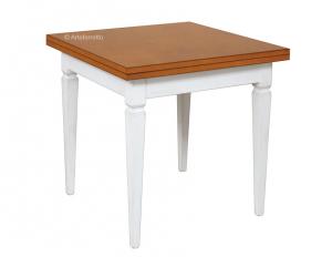Tavolo bicolore a libro 80 x 80 cm