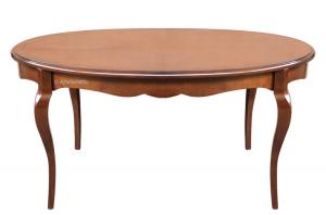 Tavolo ovale allungabile sagomato
