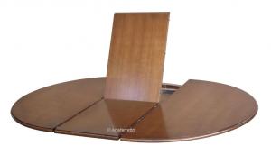 Tavolo ovale laccato allungabile