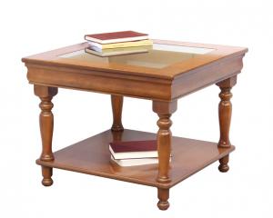Tavolino piano in cristallo stile Luigi Filippo