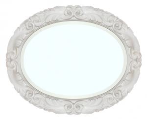 Specchiera ovale in legno Moonlight