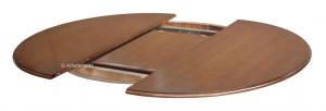 Tavolo rotondo intarsiato allunga 120-158 cm