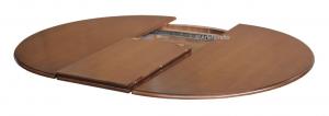 Tavolo rotondo bicolore allungabile 120 cm