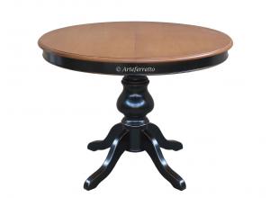 Tavolo rotondo bicolore allungabile 110 cm