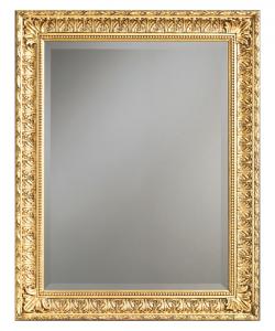Specchiera classica foglia oro o argento