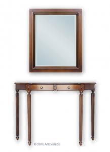 Composizione per ingresso consolle e specchio