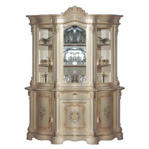 Cristalliera classica decorata 3 ante