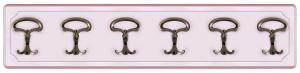 Pannello appendiabiti rosa 6 elementi
