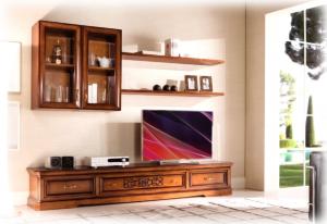 Parete tv a muro composizione per soggiorno