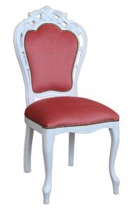 Sedia in stile intagliata