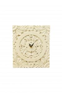 Orologio da tavolo in pietra leccese lavorato a mano in stile barocco