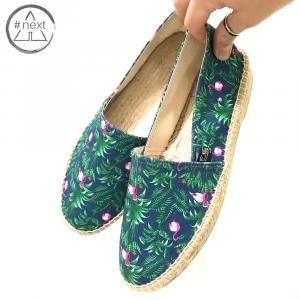 Fefè Glamour Pochette - Espadrillas Fenicotteri e foglie