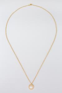 Collana lunga dorata con ciondoli cuore in argento 925%