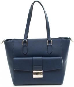 Shopping donna Trussardi jeans con tasca sul davanti e tracolla colore blu