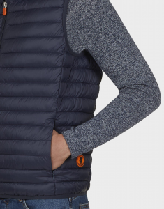 gilet uomo SAVE THE DUCK GIGA 8 blue black