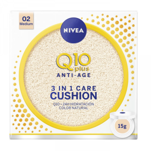 Nivea Q10+ Cushion 3 In 1 Care 02 Medium 15g