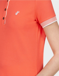 polo donna SAVE THE DUCK PICO8 coral orange