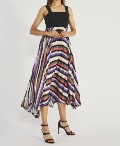 abito lungo GAUDì plissé multicolor