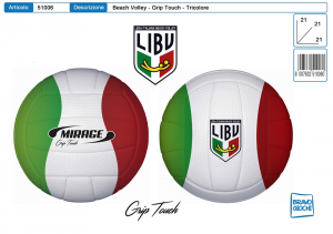 PALLONE VOLLEY MIRAGE LIBV TRICOLORE GRIP TOUCH 51006 TOYS GARDEN