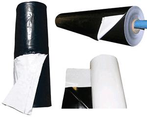 Foglia polietilene bianca/nera varie misure