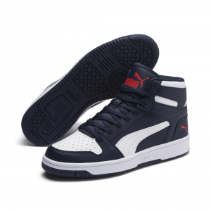 Sneakers Puma Rebound layup SL Peacoat-Puma white-red 369573 02