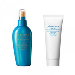 Shiseido Sun Protection Spray Oil Free Spf15 150ml Set 2 Parti