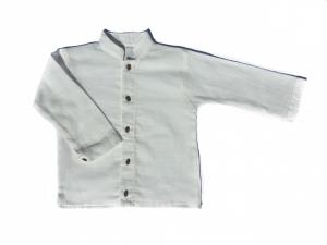 Camicia bianca con collo coreano