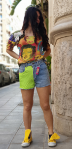 Vintage high waist reworked short jeans 90s by Uniform