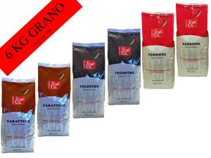 MIX CAFFE' GRANO 6 X gr 1000