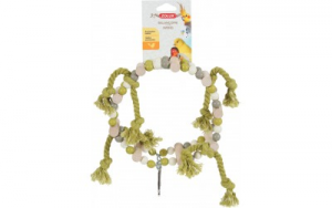 Altalena ruota di perle in legno + corda