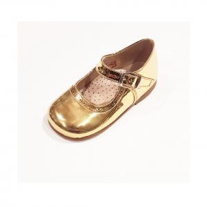 Scarpe ballerina oro laminato con fibbia