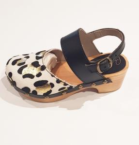 Scarpe a sandalo maculate con fibbia