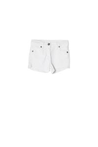 Pantaloncino bianco in tessuto