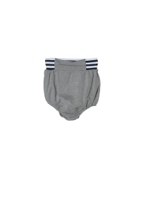 Pantaloncino grigio in felpa con vita elasticizzata