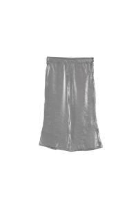 Pantalone argento in tessuto con vita elasticizzata