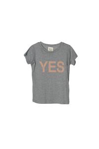 T-Shirt grigia con stampa scritta