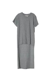 T-Shirt grigia melange lunga
