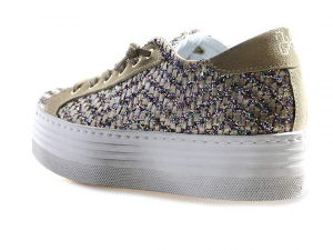 Sneaker para high donna 2Star TAUPE GLITTER MULTICOLOR