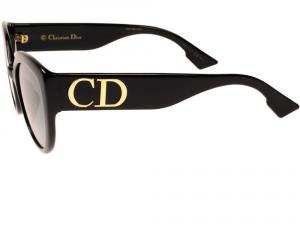 Christian Dior - Occhiale da Sole Donna, Matte Black/Grey Shaded D DIOR F 807/1I  C56