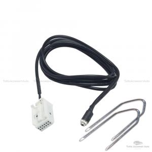 Cavo Aux Audio Ausiliario Universale Ingresso Jack Femmina 3,5 Mm + Kit Estrazione Adattatore Lunghezza 150 Cm Ascolto Musica Lettore Mp3 Smartphone