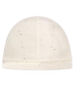 Cappello bianco con pallini grigi