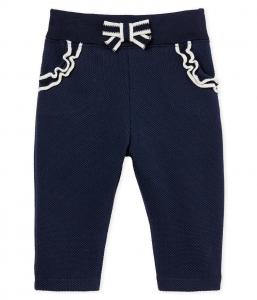 Pantalone blu con fiocchetto e dettagli bianchi