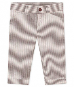 Pantalone a righe bianche e rosso vino