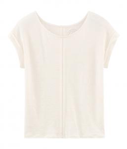 T-Shirt bianca con finiture traforate